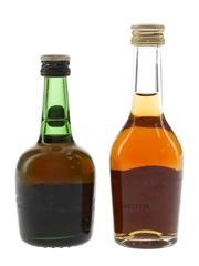 Courvoisier VSOP & Martell VS Bottled 1980s 2 x 5cl / 40%