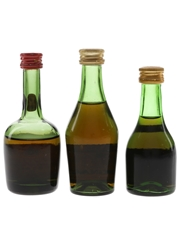 Courvoisier, Gaston De Lagrange & Rouyer Guillet Bottled 1960s-1970s 3 x 5cl / 40%