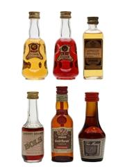 Assorted Liqueurs  6 x 4.5cl-5cl