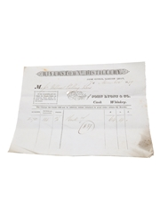 Riverstown Distillery Purchase Receipts, Dated 1849 John Lyons & Co.