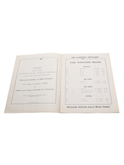 William Foulds List Of Old Scotch Whiskies, April 1893 Wholesale Price List