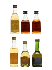 Assorted Brandy Bottled 1970s & 1980s 6 x 5cl