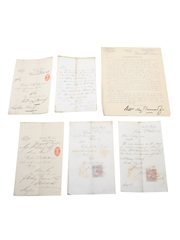 Littlemill Distillery Receipts & Correspondence, Dated 1857-1893