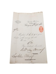 Littlemill Distillery Receipts & Correspondence, Dated 1857-1893 Wm Hay, Fairman & Co.