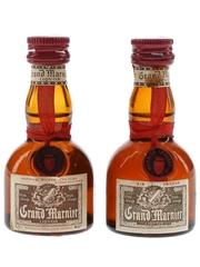 Grand Marnier Cordon Rouge Bottled 1970s 2 x 2.5cl