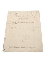 Andrew Usher & Co. Purchase Receipts, Dated 1877