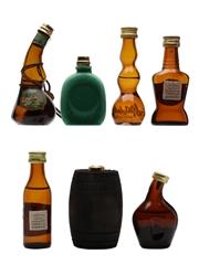 Assorted Italian Grappa Bernard, Candolini, Cinzano, Gambarotta, Mazetti d'Altavilla, Negroni, Stock 7 x 3cl-3.7cl