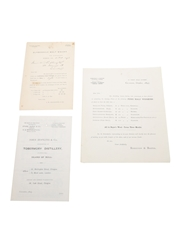 Assorted Price Lists, Dated 1893