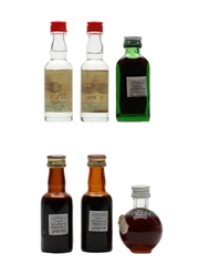 Assorted Italian Spirits & Liqueurs Bottled 1970s-1980s 6 x 2cl-3cl