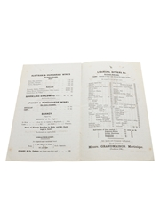Assorted Wholesale Prices Lists, Dated 1893 Evans & Marshall, Blankenheym & Nolet, Rouyer Guillet & Cie., Willing Stumer & Co., Barton & Company, J Dupont & Co., W H M Montague, Franz A Jalics & Co.