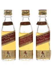 Johnnie Walker Red Label Bottled 1970s 3 x 4.7-5cl