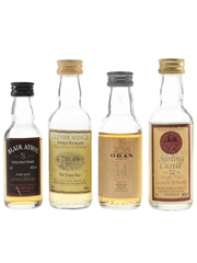 Blair Athol, Glenmorangie, Oban & Stirling Castle  4 x 3cl-5cl