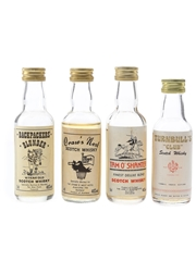 Backpackers' Blunder, Craw's Nest, Tam O'Shanter & Turnbull's Club Bottled 1990s 4 x 5cl