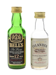 Bell's 12 Year Old & Islander Bottled 1980s 2 x 5cl / 40%