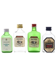 Christopher's, Squires & Whitehall London Dry Gin Bottled 1970s 4 x 5cl / 40%