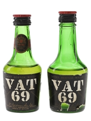 Vat 69 Bottled 1960s 2 x 5cl