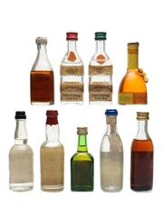 Assorted Spirits & Liqueurs  9 x 5cl