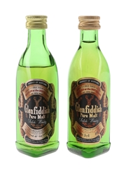 Glenfiddich Pure Malt Bottled 1980s 2 x 5cl