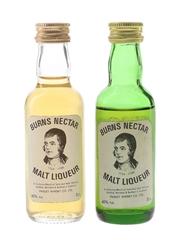 Burns Nectar Bottled 1980s 2 x 5cl / 40%