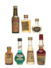 Assorted Spirits & Liqueurs Bottled 1970s 5 x 3cl & 2 x 4cl