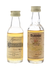 Cragganmore 12 Year Old & Tamdhu 10 Year Old Bottled 1970s & 1980s 2 x 5cl / 40%