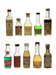 Assorted Liqueurs Bottled 1960s 2 x 2cl, 6 x 3cl & 2 x 4cl