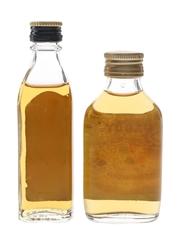 Black Bush & Paddy Bottled 1980s 2 x 5cl / 40%