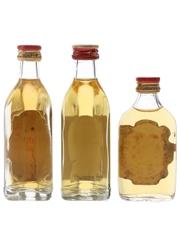 Grant's Bottled 1970s, 1980s & 1990s 3 x 4.7cl-5cl