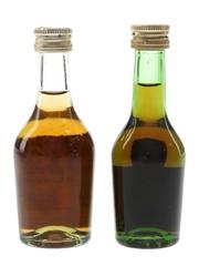Hine & Martell Bottled 1970s &1980s 2 x 3cl-4.5cl / 40%