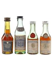 Martell Cordon Bleu, 3 Star & Medallion Bottled 1950s-1980s 4 x 3cl-5cl / 40%