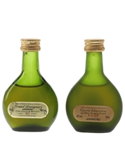 Janneau Grand Armagnac VSOP & XO Bottled 1980s 2 x 3cl / 40%