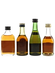 Hine, Martell, Remy Martin & Salignac Bottled 1970s 4 x 3cl-5cl / 40%
