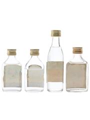 Cossack, Huzzar & Romanoff Bottled 1970s 4 x 5cl-7.1cl