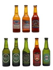 Assorted Tiny Beer Bottles Budweiser, Bulldog, Carlsberg, Heineken & London Pride 8 x 1cl
