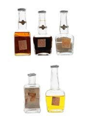 Asssorted Marie Brizard Liqueurs Bottled 1960s 5 x 5cl