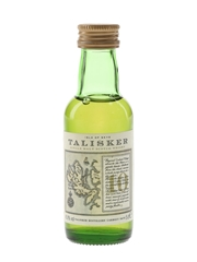 Talisker 10 Year Old Bottled 1990s - Map Label 5cl / 45.8%
