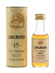 Longmorn 15 Year Old Bottled 1980s 5cl / 43%