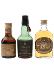 Drambuie & Glayva Bottled 1950s & 1970s 3 x 5cl
