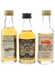 Dew Of Ben Nevis, Red Gauntlet & The Gordon Highlanders  3 x 5cl