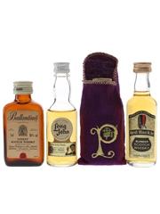 Ballantine's, Long John, Pinwinnie Royale & Red Hackle Bottled 1970s & 1980s 4 x 5cl / 40%