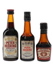 Peter Heering Cherry Bottled 1970s & 1980s 3 x 3cl-5cl