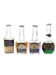 Assorted Marie Brizard Liqueurs Bottled 1960s 4 x 5cl