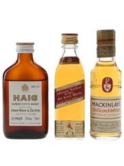 Haig, Johnnie Walker & Mackinlay's Bottled 1960s & 1970s 3 x 5cl-5.6cl / 40%