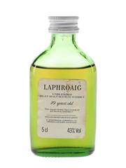 Laphroaig 10 Year Old Unblended Bottled 1980s 5cl / 43%