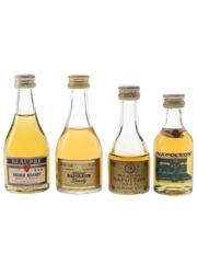 Beaupre & Napoleon Brandy Bottled 1970s & 1980s 4 x 5cl