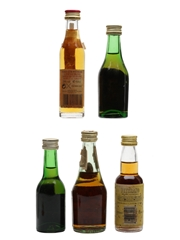Assorted Brandy Bottled 1970s 5 x 4cl-4.5cl