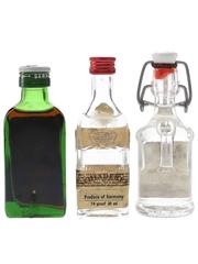 Jagermeister, Kirschwasser & Obstbrand Bottled 1970s & 1980s 3 x 3cl-5cl