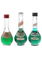 Bols & Cusenier Creme De Menthe Liqueurs Bottled 1960s-1970s 3 x 5cl