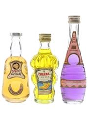 Apricot, Cobana & Parfait Amour  3 x 5cl