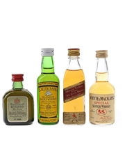 Buchanan's, Cutty Sark, Johnnie Walker and Whyte & Mackay Bottled 1960s & 1970s 4 x 5cl / 40%